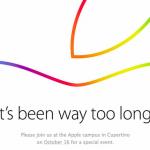 Appleが10月16日が新製品発表イベントを開催!招待状を各メディアに配布した模様
