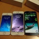 iPhone6を買ったのでiPhone5SとGALAXY S4と比べてみた